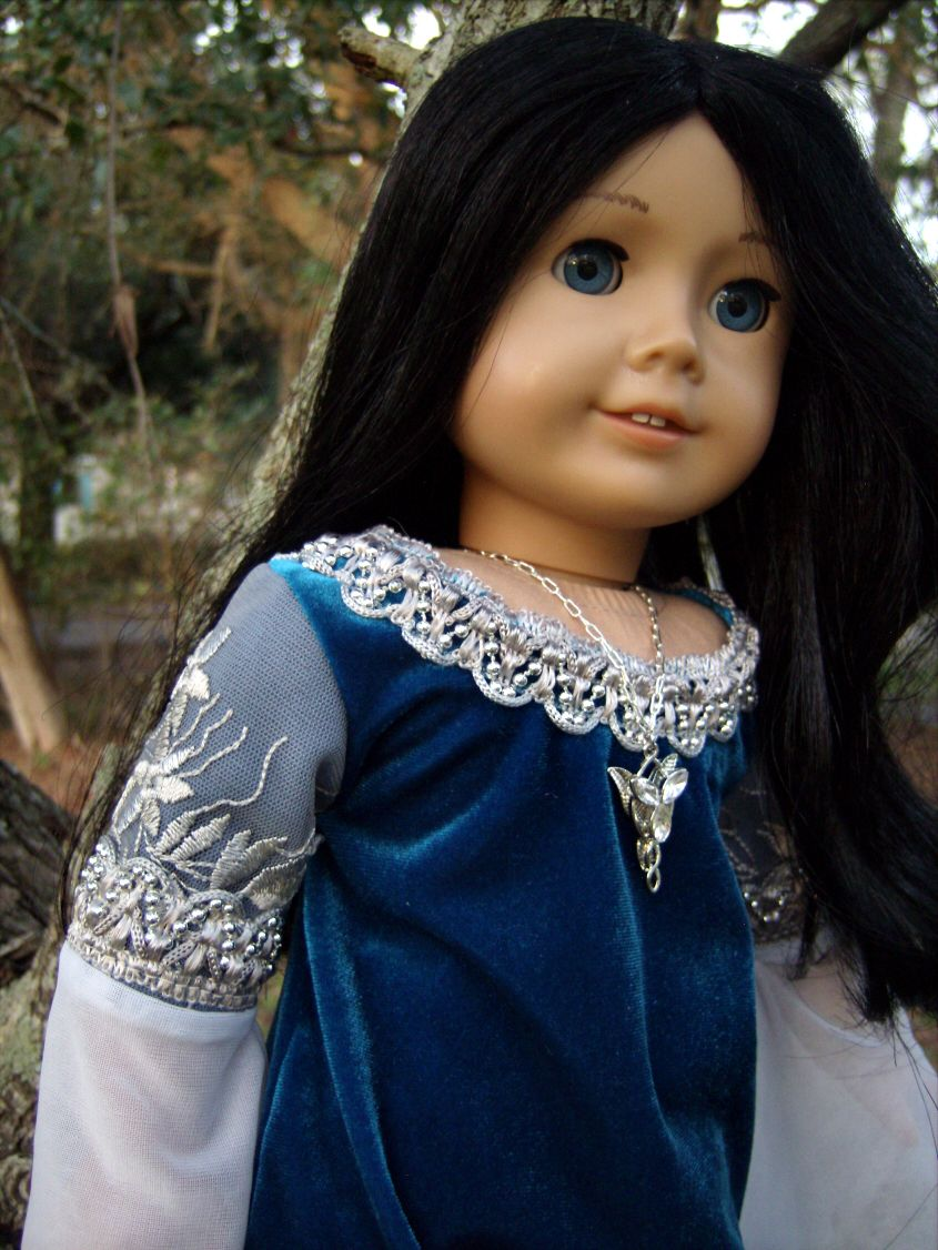 """Arwen Requiem Gown from """"Lord of the Rings: Return of the King"""" Medieval/Renaissance Costume for American Girl/Journey Girls/Carpatina 18"""" Dolls - by Morgan May @ Stardust Dolls - http://www.stardustdolls.com"""