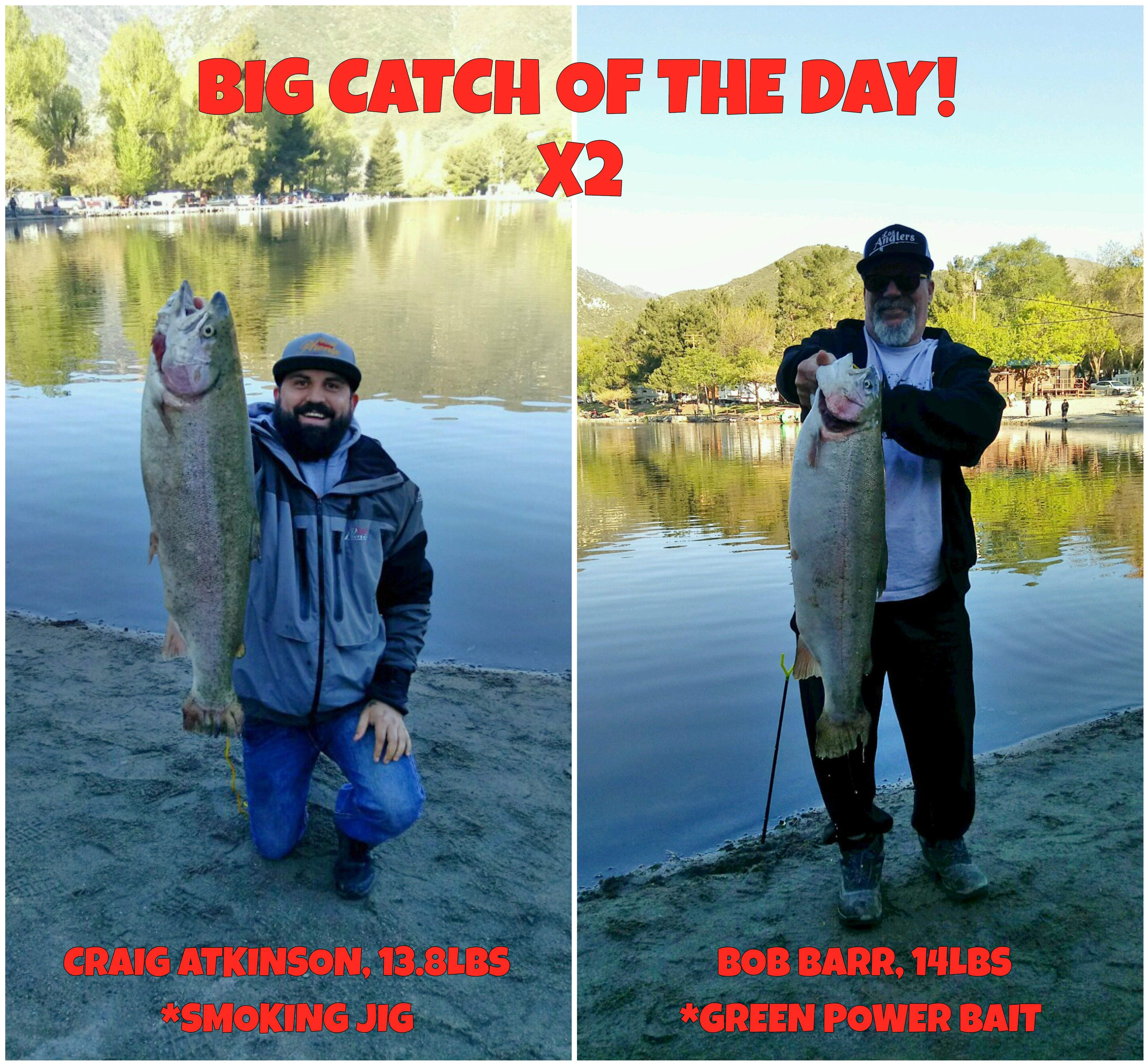 big fish catching here at mountain lakes resort in lytle creek, ca