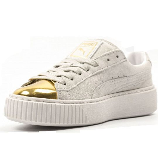 PUMA SUEDE PLATFORM GOLD WOMENS SNEAKERS