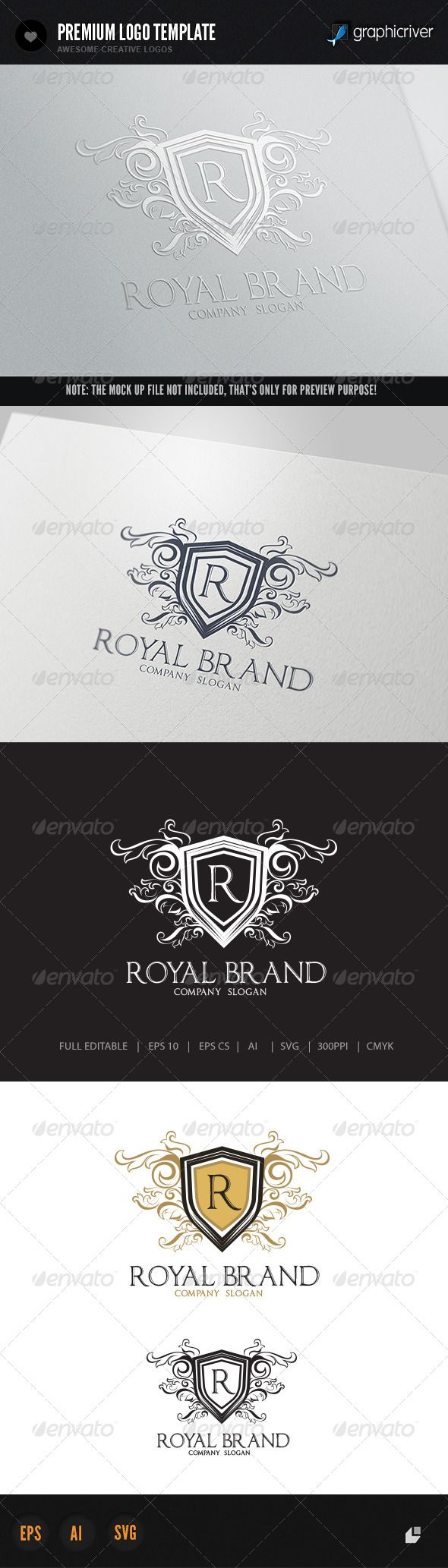 Royal Brand — Vector EPS #crest #sports • Available here → https://graphicriver.net/item/royal-brand/5854655?ref=pxcr
