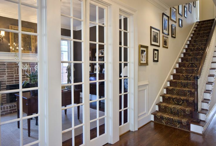 Interior French Doors With Sidelights Into Another Room