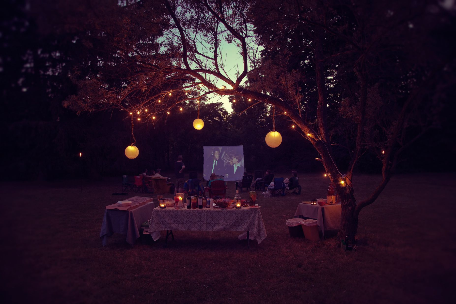 First Annual Outdoor Movie Night - July 2012.