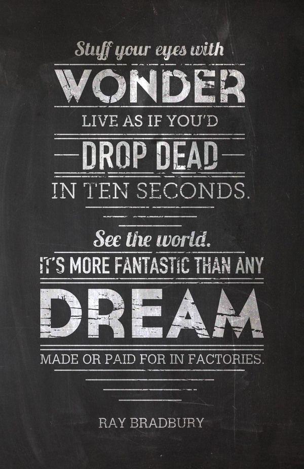 Too true, live it.