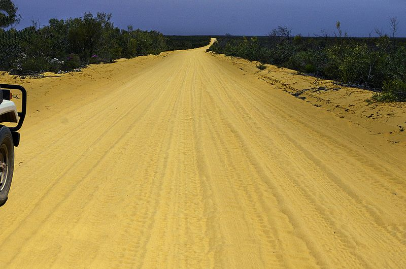 the track to the Kalbarri National park