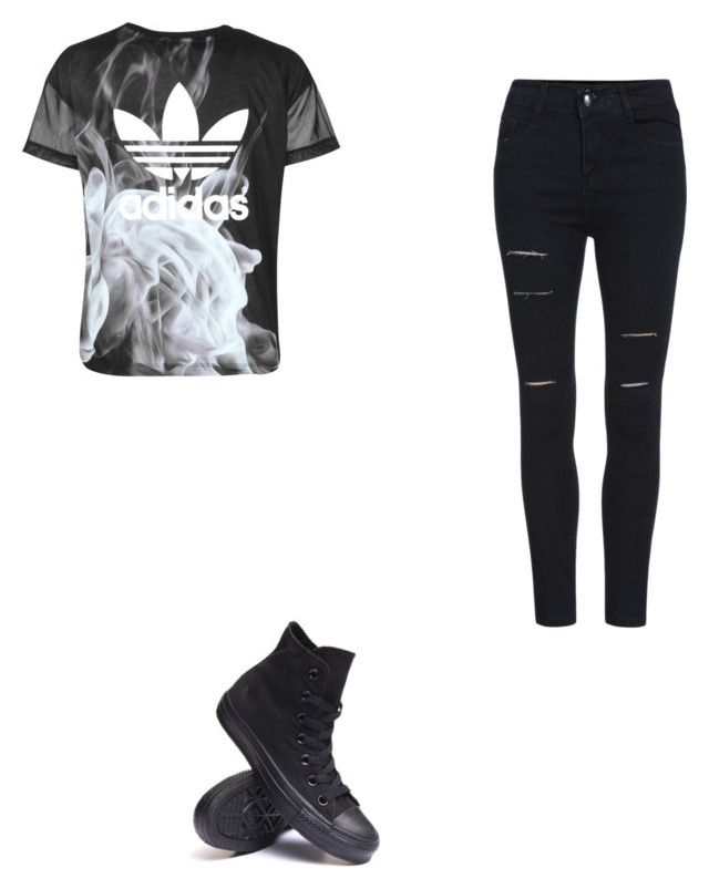 """What I want"" by anisedits ❤ liked on Polyvore featuring Converse and adidas"