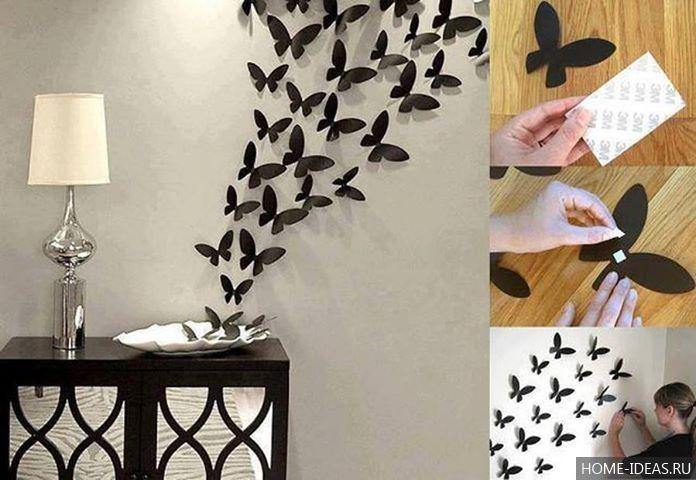 Украшение стен бабочками - Ремонт квартиры своими руками 3
