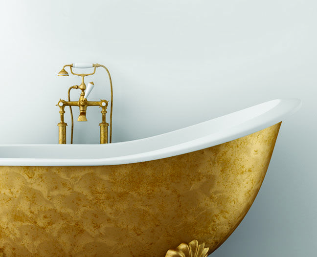 old claw foot tub in gold tub life pinterest tubs gold and gold bathroom. Black Bedroom Furniture Sets. Home Design Ideas