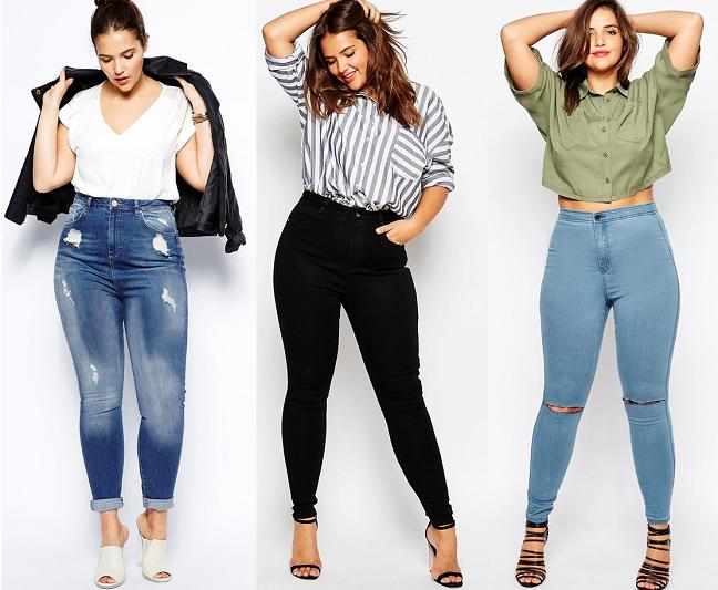 High waist jeans curvy