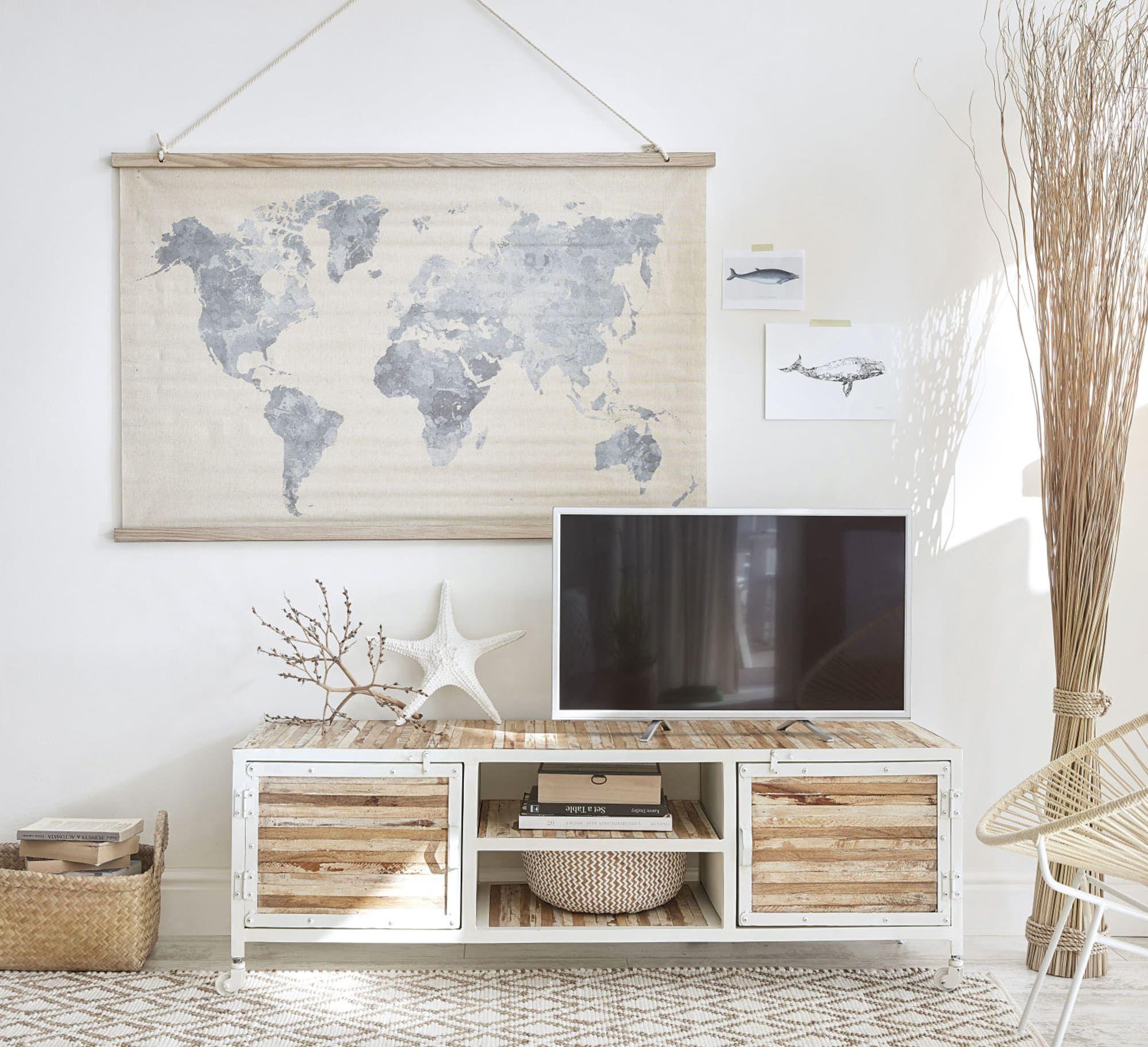 Conception innovante abe5f b8e01 Meuble TV en métal blanc en 2019   Bouzey   Meuble tv ...