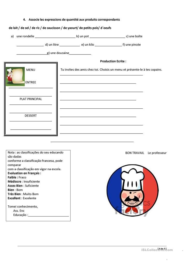 Controle Apprendre Le Francai Enseignement Du Exercice Cm2 Paraphrase Definition Francais