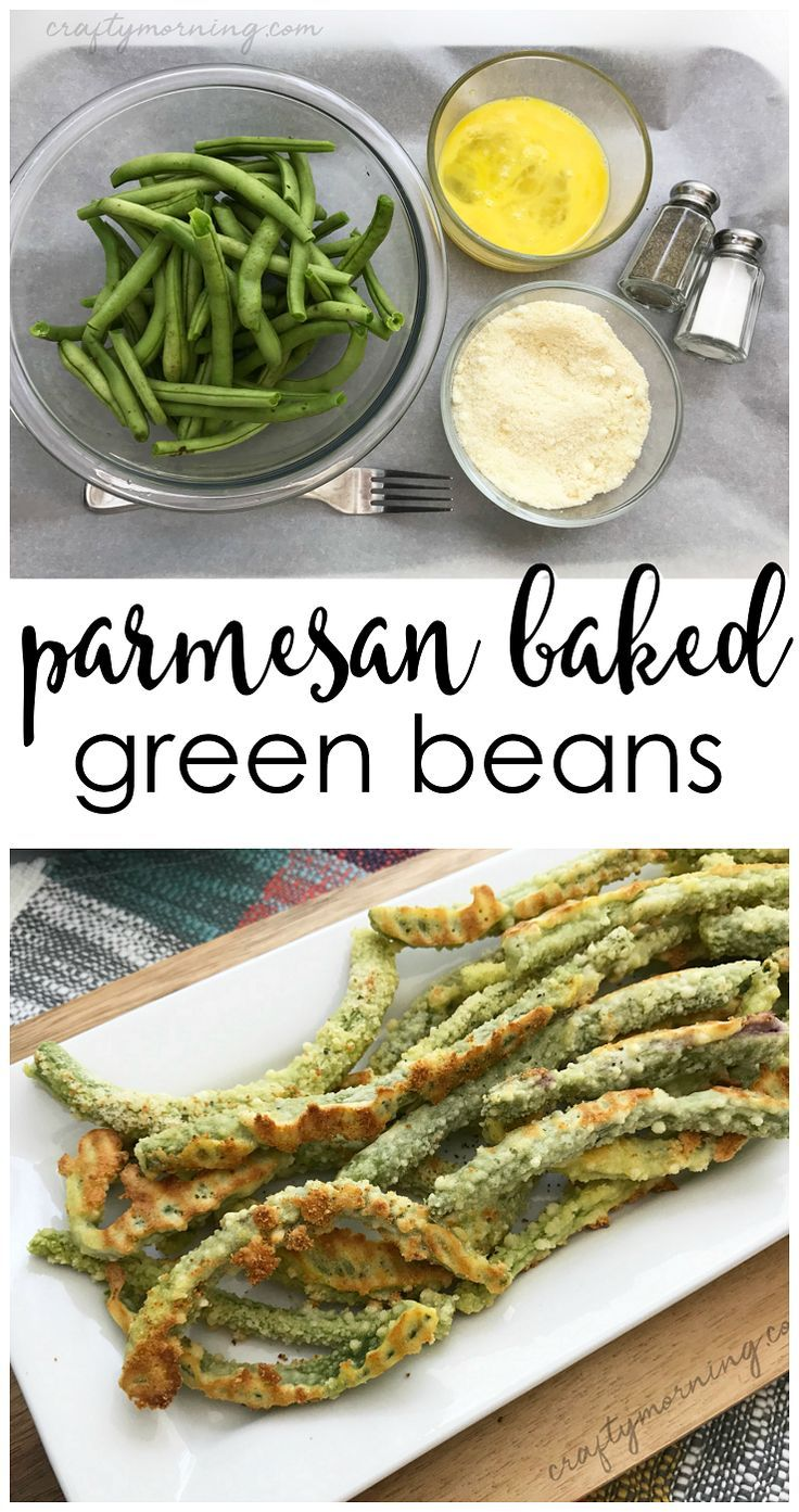 Oven baked Parmesan green beans recipe....the best side dish to make! Healthy si... #baked #beans #g...
