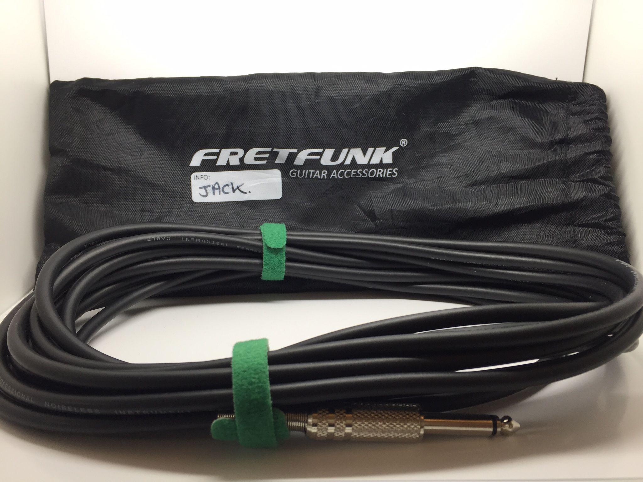 Fretfunk Cable Bags and Cable Ties - protect your cables, 3 pack available at www.fretfunk.co.uk
