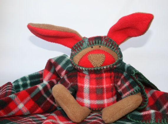 New Brunswick Tartan McPlaid Bunny Blanket by TwistedKnickersInc