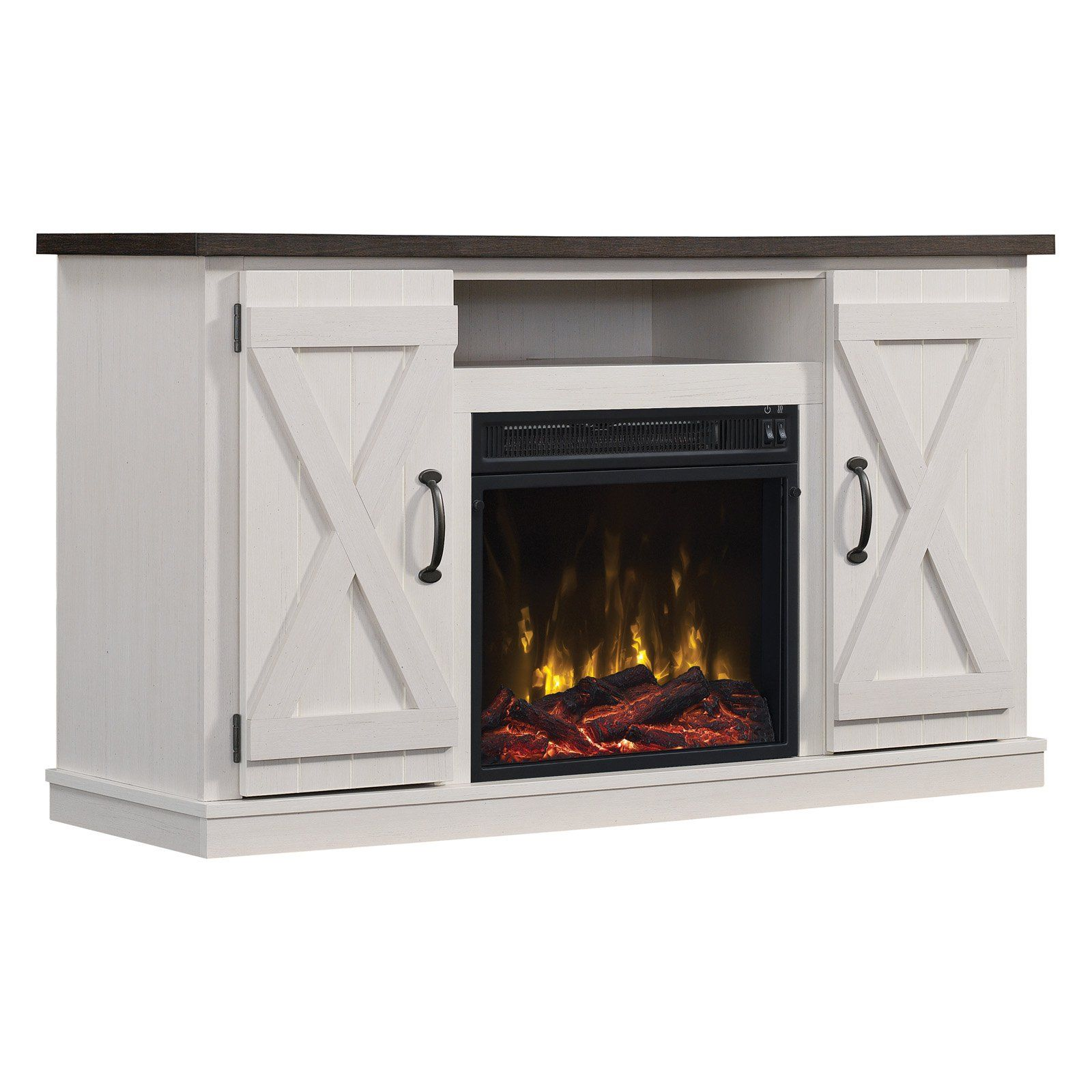 Twin Star Home Cottonwood 55 In Electric Media Fireplace