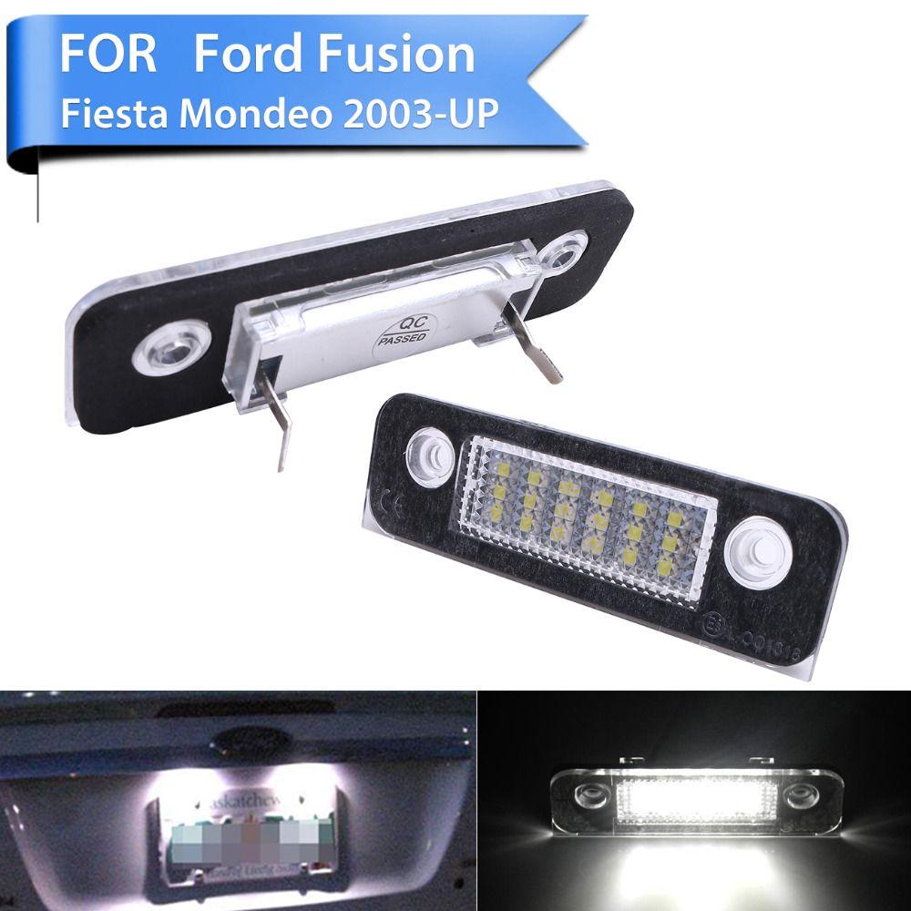 2x High Power Led Number License Plate Light Lamp For Ford Mondeo Mk2 Fiesta Mk5 Mk6 Facelift Fusion Mini Mpv P255 Power Led Car Lights Ford Mondeo