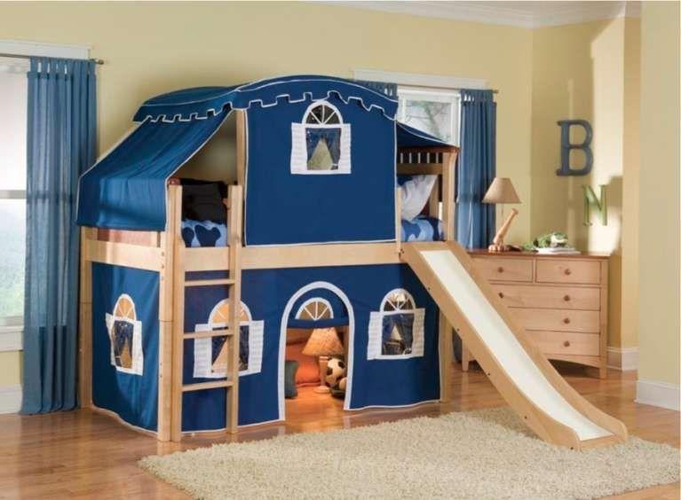 Letti A Castello Con Scivolo : Letti a soppalco letto a soppalco con scivolo room kids blue