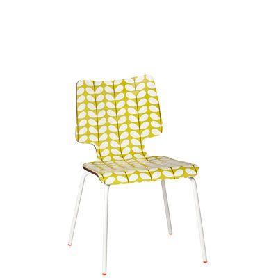Orla Kiely Stem Stacking Chair   Yellow