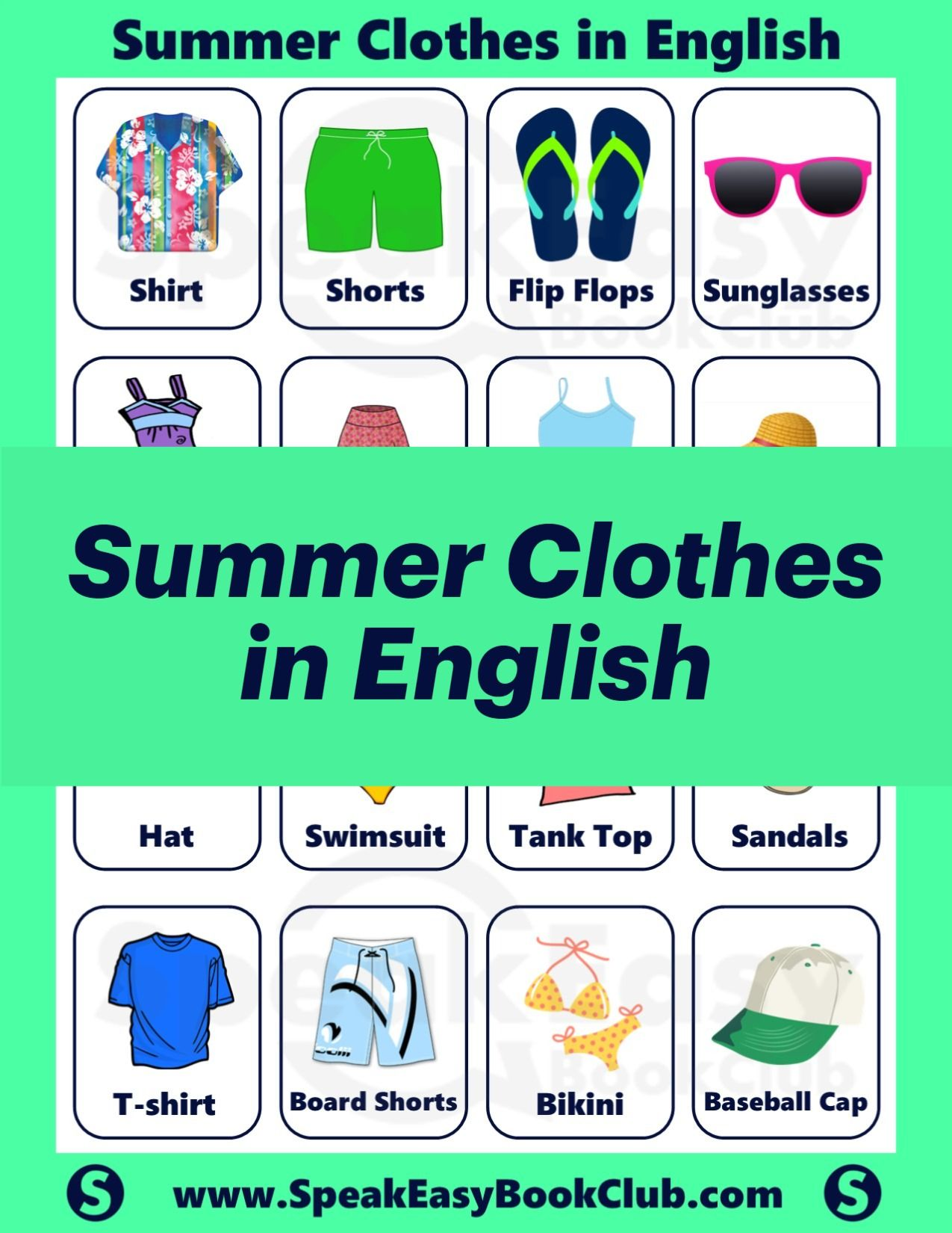 Summer Clothes In English In
