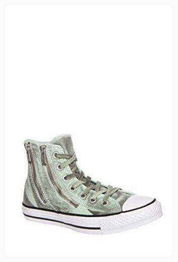 29b46763257746 Converse Womens Black Wash Chuck Taylor All Star Dual Zip Shoes ...