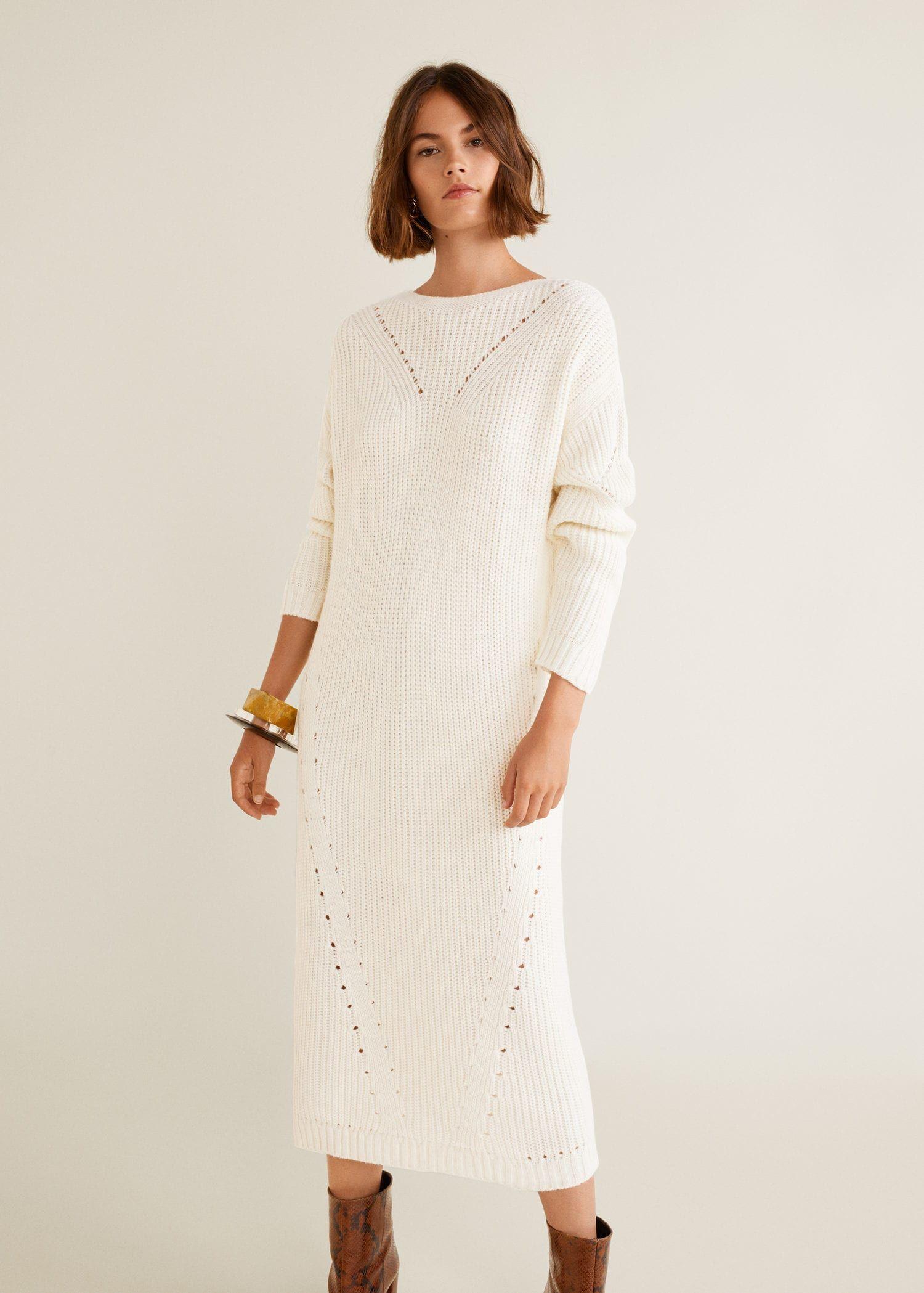 Knit Long Dress Women Mango United Kingdom Kazak Elbise The Dress Uzun Elbise