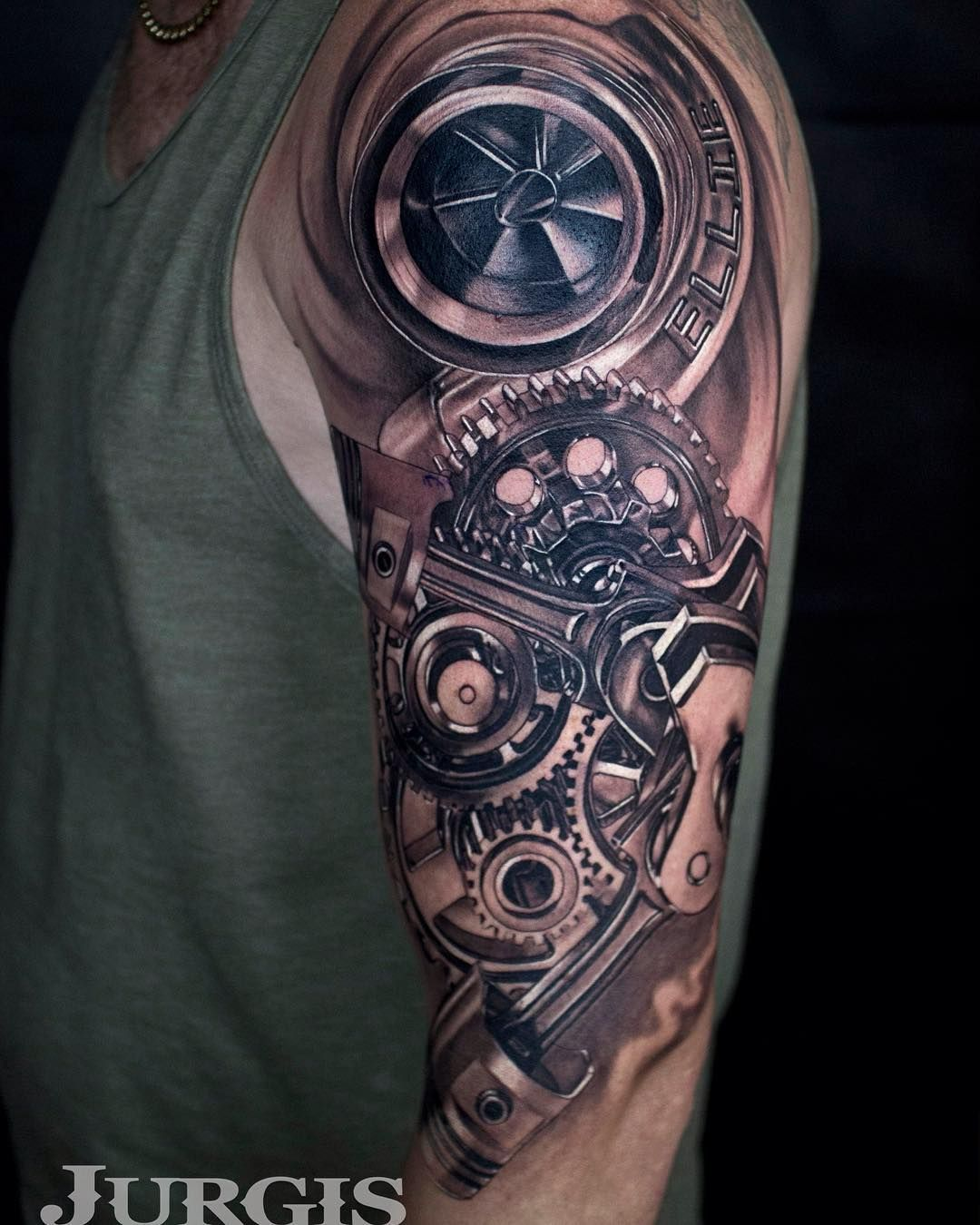 Tattoo gear tattoo sleeve mechanic tattoo mechanical tattoo gears - Custom Sleeve Film Tattoo Sleeve Tattoo Is One Of Popular Ideas For Tattoo Placement Honestly I Noticed One S Tattoo Inked On Their Arms In The First Time