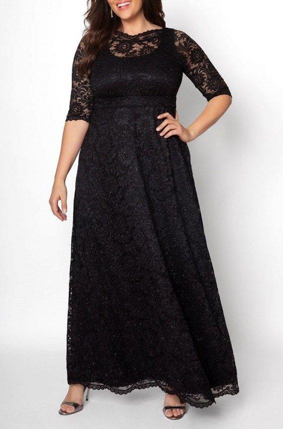 Plus Size Black Lace Maxi Dresses In Modern Styles   Plus Size Maxi ...