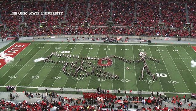 This Is An Awesome Display By The Ohio State Marching Band Ohio State Marching Band Ohio State The Ohio State University