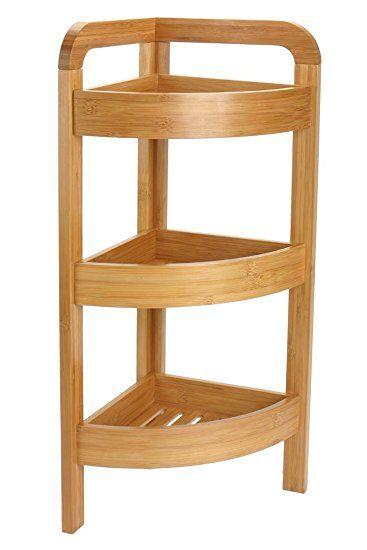 Generic Bamboo Corner Shelf 3 Shelves Studio Pinterest