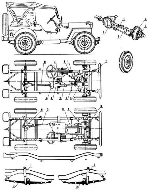 willys mb jeep blueprint