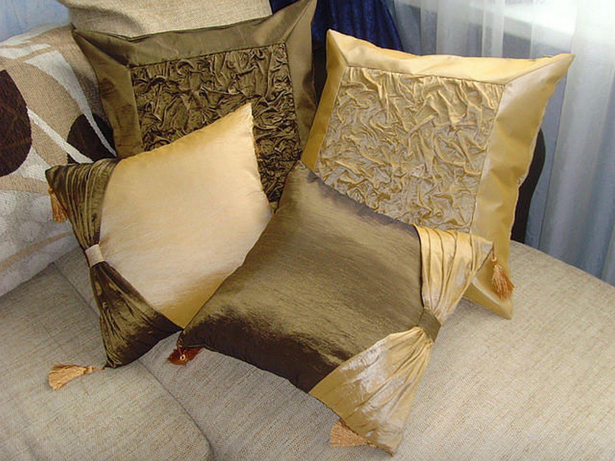 красивые наволочки на подушки своими руками фото восторге того