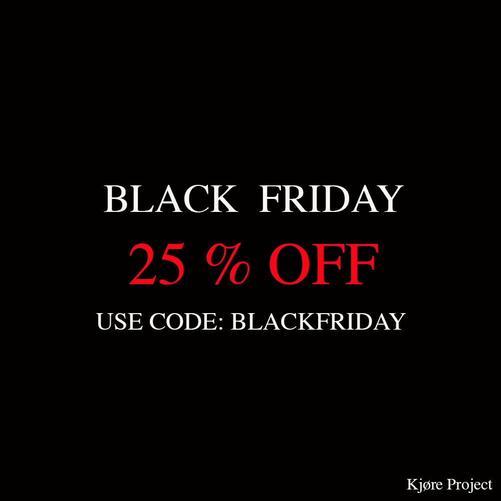 Kjøre Project's Black Friday 25% OFF on website.  #discount #blackfriday #design @kjoreproject