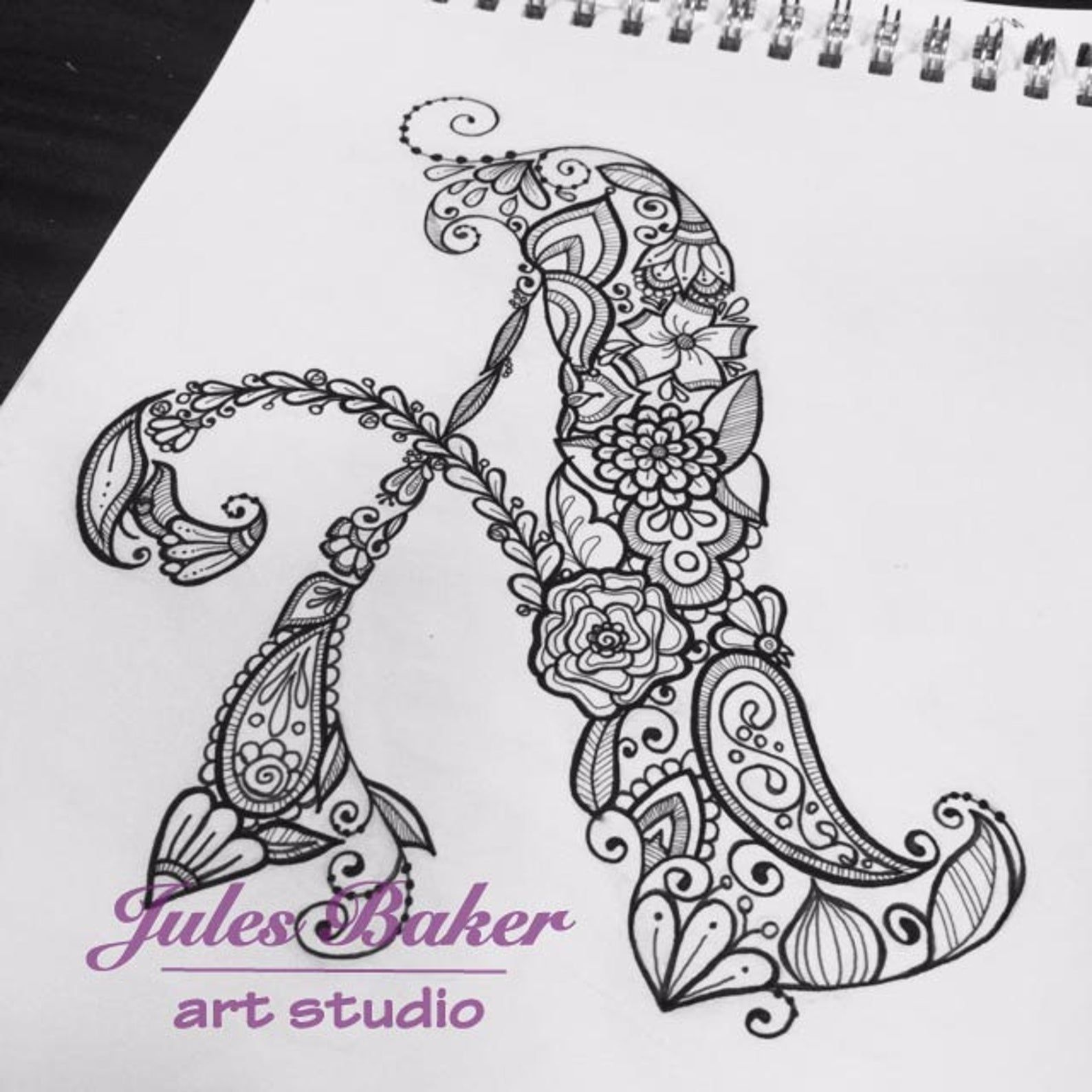 Digital Coloring Page Letter A From Letter Etsy In 2021 Doodle Coloring Lettering Alphabet Alphabet Coloring Pages