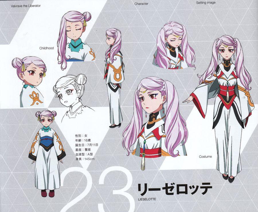 Lieselotte W. Dorssia Valvrave the liberator, Anime