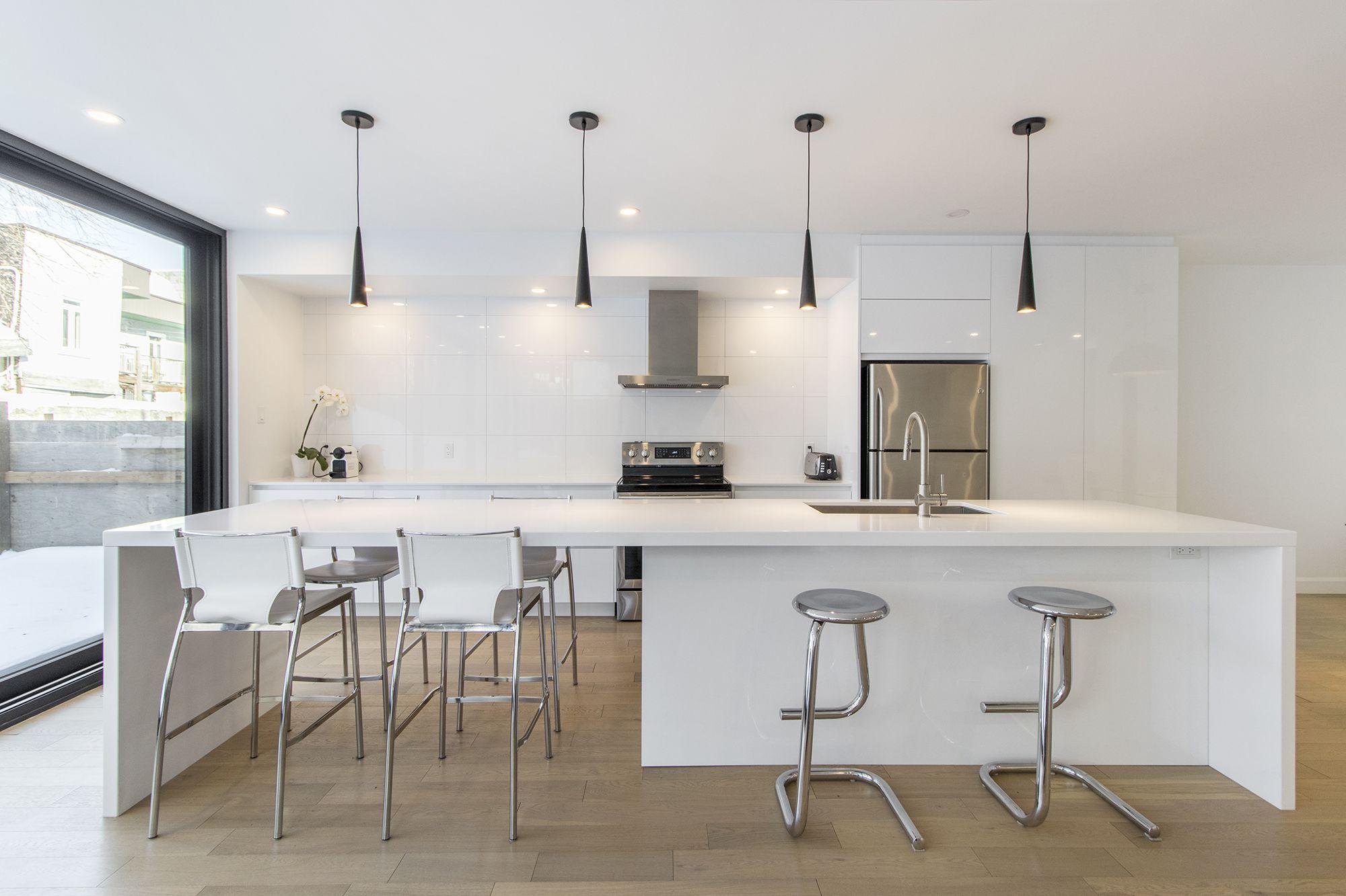 Cuisine Moderne Blanche Armoire Design Interior