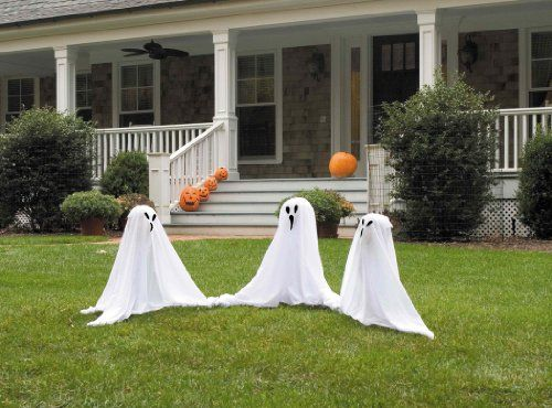 Ghostly Group Lawn Decoration - Outdoor halloween decorations