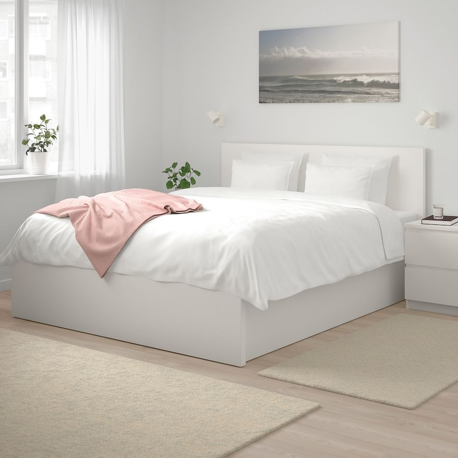 Malm Storage Bed White Queen Ikea In 2020 White Bed Frame Bed Frame With Storage Malm Bed Frame