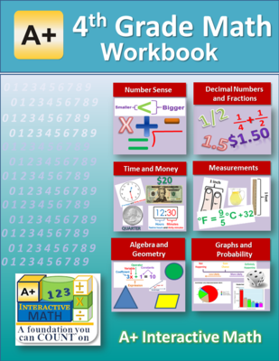 4th Grade Math Workbook (Worksheets, Exams and Answer Keys) from ...