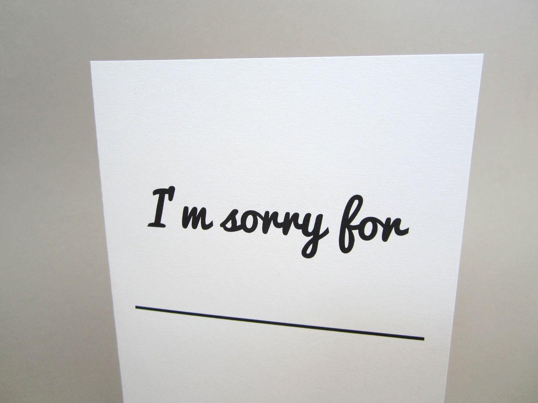 Fun fill in the blank apology greeting card im sorry for 350 fun fill in the blank apology greeting card im kristyandbryce Gallery