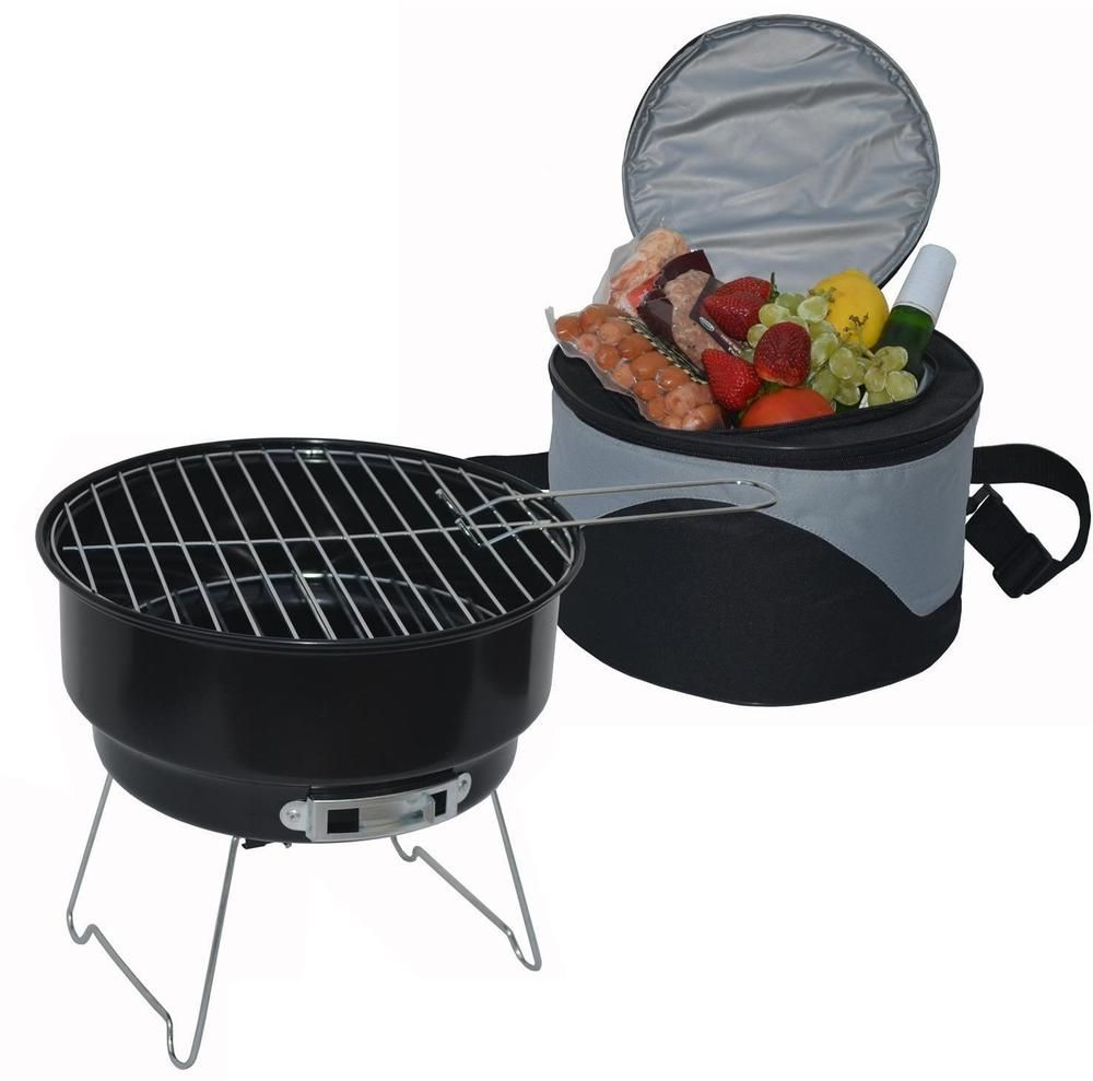 Portable Charcoal Grill Table Top Bbq Outdoor Picnic Barbecue Cooler Backyard Charcoalgrillcollection