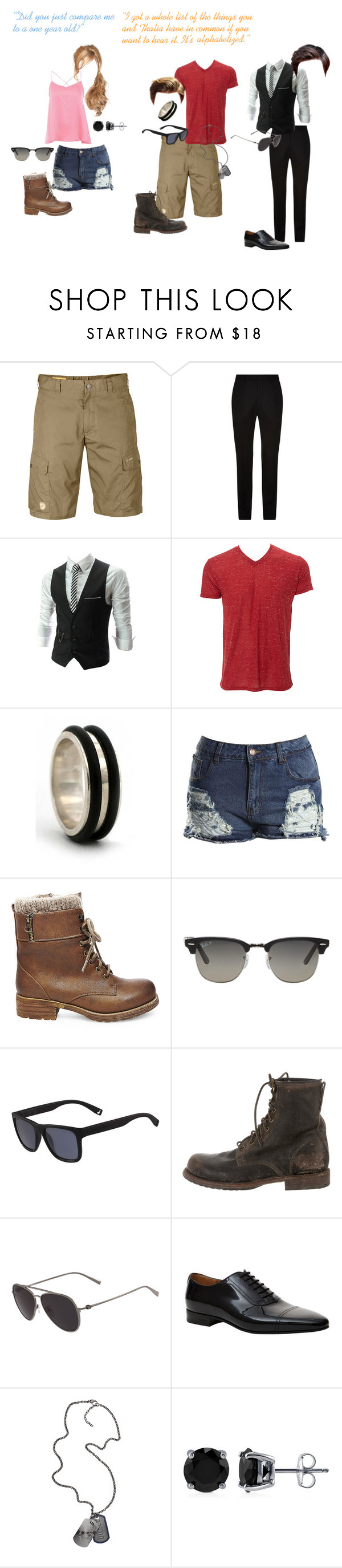 """""""7."""" by secretly-a-fangirl ❤ liked on Polyvore featuring Fjällräven, Sandro, Simplex Apparel, NOVICA, Boohoo, Steve Madden, Ray-Ban, Lacoste, Frye and Salvatore Ferragamo"""