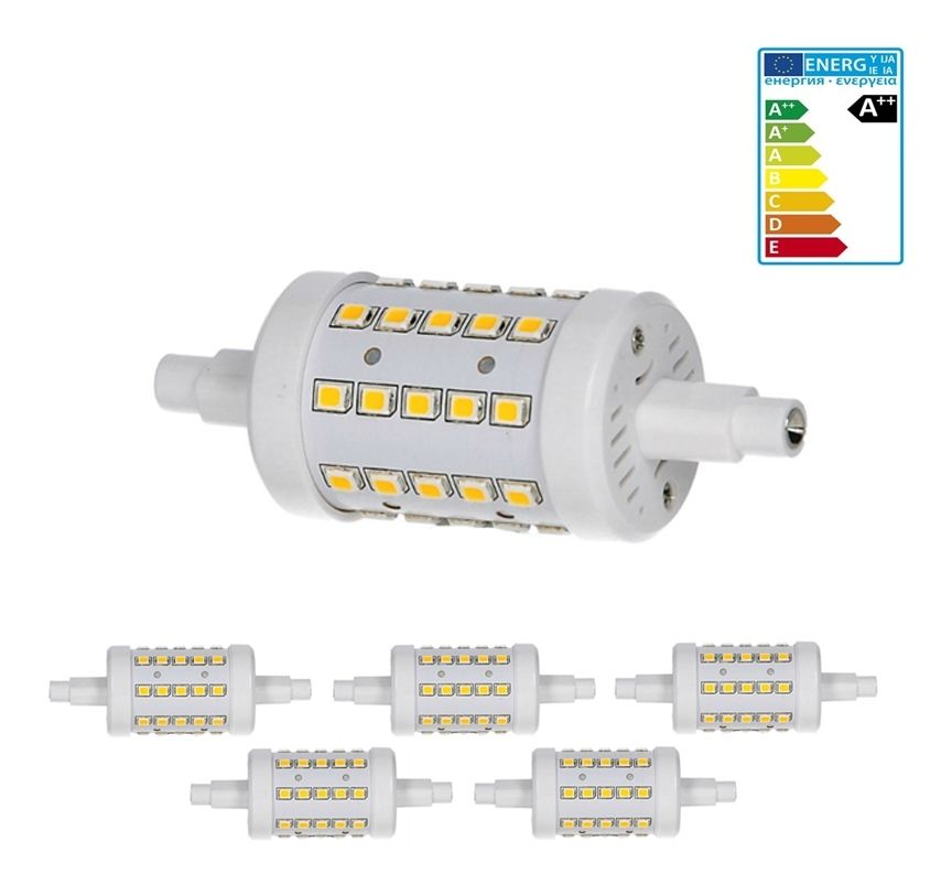 Ecd Germany 5 X R7s Lampe Led 7w 78mm 700 Lumens Ac86 265v Angle