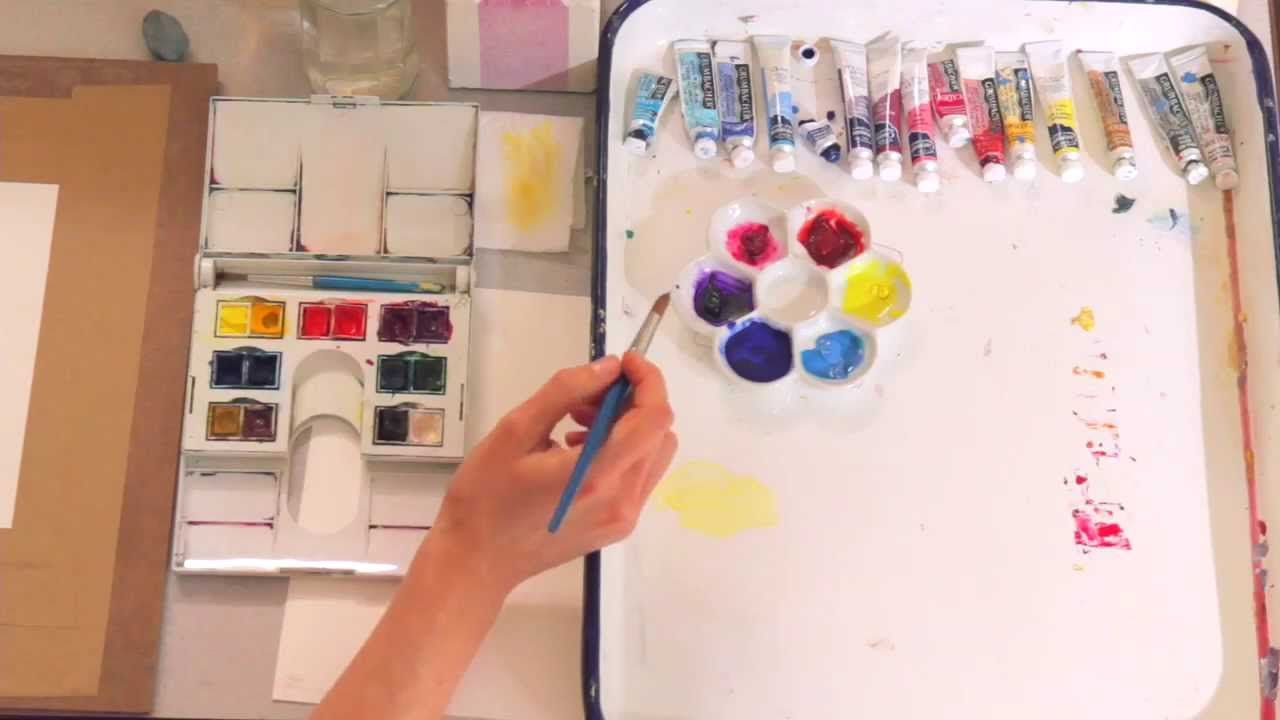 Watercolor 101 Mixing Your Colors Watercolor Lessons