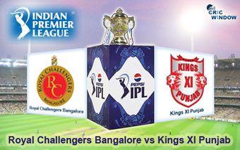 IPL 7 Royal Challengers Bangalore vs Kings XI Punjab report match 18 - Cricwindow.com