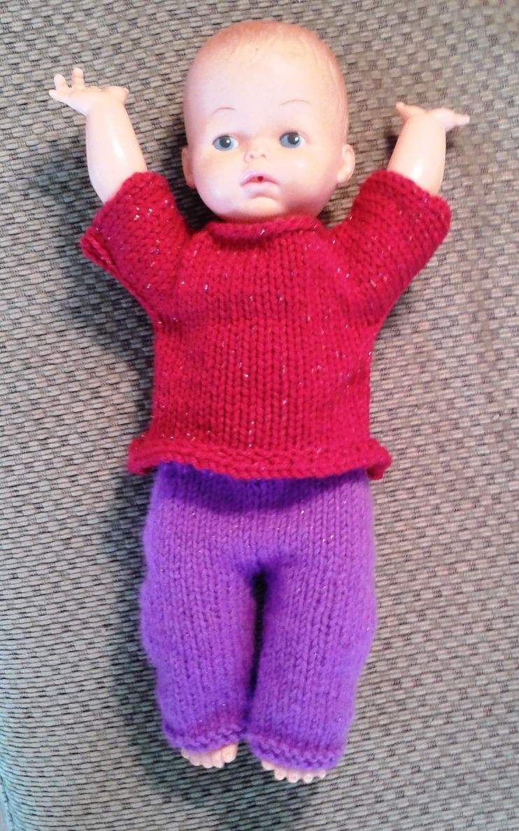 Knitting Clothes For Dolls : Knit doll shirt free patterns knitted baby dolls