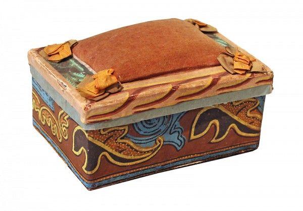 Wallpaper Pin cushion, ca. 1840, likely Pennsylvania