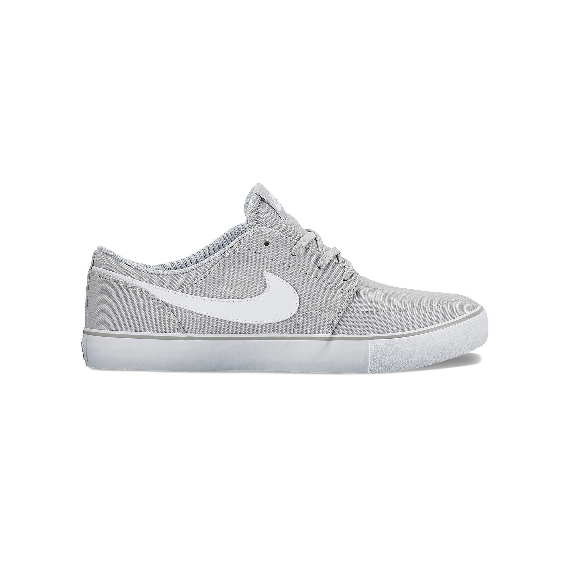 Nike SB Solarsoft Portmore II Men's Skate Shoes, Size: 11.5, Grey (Charcoal
