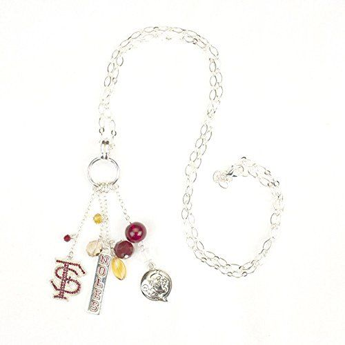 """Great for the Noles fan! Florida State Seminoles Tide 30"""" Cluster Tassel Necklace Sports Team Accessories http://www.amazon.com/dp/B01ASF7P7W/ref=cm_sw_r_pi_dp_Uh6Twb08R4BB4"""