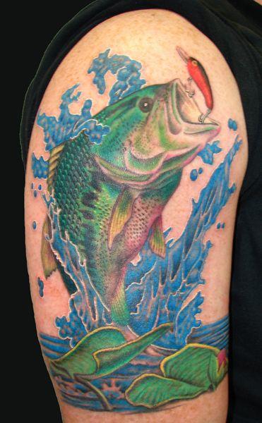 Maori Largemouth Bass Tattoo: Largemouth Bass Tattoo By Asussman