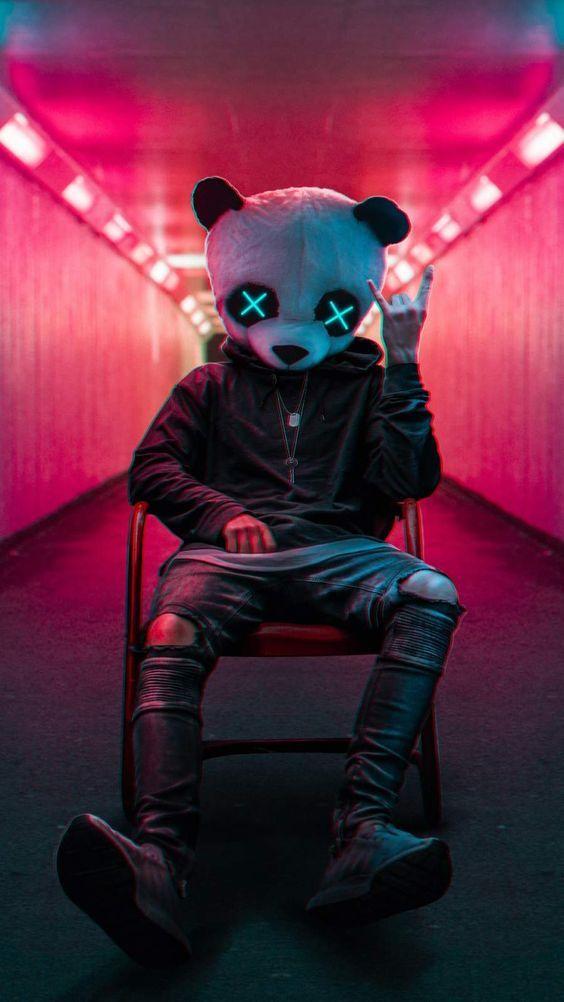 Rockstar Panda iPhone Wallpaper – Cool Backgrounds