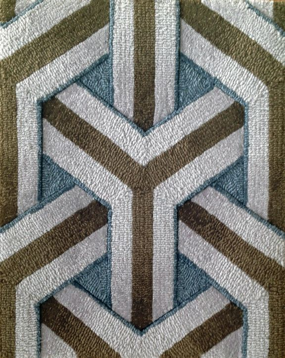 Geometric Rug Pattern Wall To